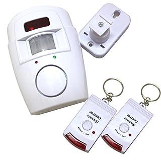 AAJ Bewegungsmelder-Alarm mit 2 Fernbedienungsschlüsseln, inkl. Verstellbarer Wandmontage-Halterung (ideal für Schuppen, Zuhause, Garage, Wohnwagen)