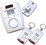 Motion Sensor Alarm with 2 Remote Control Keys, Adjustable Wall Mounting Bracket Included (Ideal for Sheds, Home, Garages, Caravans)