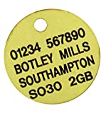Spoilt Rotten Pets Quality Brass Engraved 25mm Pet Disc Identity Dog Tag When Checking Out Please Tick The Gift Message Box To Send Us The Engraving Detail