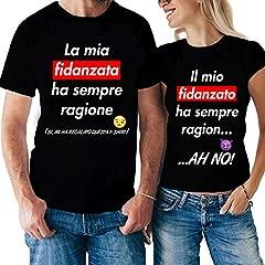 Idea Regalo - Coppia Tshirt San Valentino La mia Fidanzata ha Sempre Ragione, Il Mio Fidanzato ha Sempre Ragione - Love - Humor - Idea Regalo
