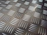 1x Riffelblech Tränenblech 1500x1000mm 3,5/5 mm QUINTETT geriffelt Aluminium