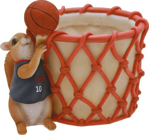 Certre Cache-pot Écureuil sportif Panier de basket 15,8 (H) cm