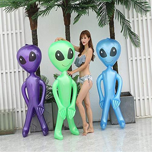WXH 3 STÜCKE Riesen Aufblasbare Alien Schwimmbad Float Spielzeug, Mit Extra Großen Schwarzen Augen, Mitbringsel Karneval Preis, ideal für Geburtstagsfeier, Halloween