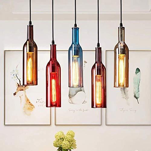 5-Licht Kreative Glas Kronleuchter Light Society Morley Kücheninsel Anhänger, Mattschwarzer Schirm mit Klarglasscheiben, Moderner Industrie Kronleuchter - Bordeaux 3 Light-anhänger