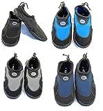 Azul Aqua zapatos de neopreno playa Rush Mens, color Negro - negro y azul marino, tamaño 10