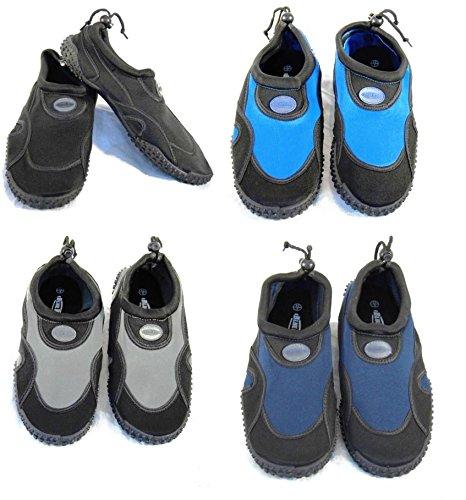 Blue Rush - Scarpe subacquee per muta e spiaggia, uomo Multicolore - Nero/Blu royal