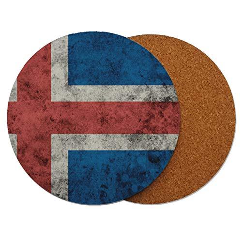 UK Vereinigtes Königreich Britische Schmutz-Flagge Runder Holz-Untersetzer mit Korkrückseite 95mm x 95mm (Packung mit 1)