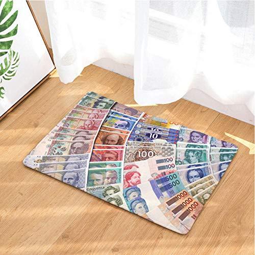 Asbjxny Dollar-Fußmatten-Bad-Matten-Badezimmer-Wolldecken-Küchen-Wolldecken für Inneneinrichtung JHY1238