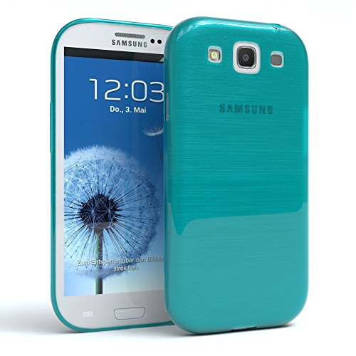 Samsung Galaxy S3 / S3 Neo Hülle - EAZY CASE Ultra Slim Cover TPU Handyhülle - dünne Schutzhülle aus Silikon in Pink Brushed Hellblau