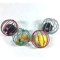 LUFA Juguetes para gatos interactivos Cocina jugando a la pelota Jaula Juguetes Mascotas Ratón en la jaula de la rata Juguetes de la bola Tease Gatos Jugar Juguete(Color aleatorio)