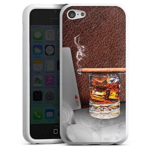 DeinDesign Silikon Hülle kompatibel mit Apple iPhone 5c Case Schutzhülle Zigarre Whiskey Whisky (Iphone 5c Case Whiskey)
