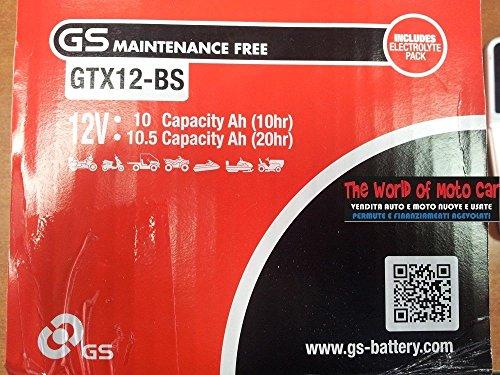 Akku GS ytx12-bs für Piaggio Vespa LX ie E33V (M68300) 1252012–201312V 10Ah...