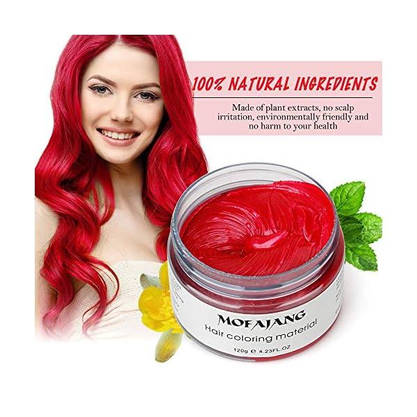 WSX Cera para teñir el cabello Cera para el cabello natural Peluquería desechable Color del cabello instantáneo Peinado…
