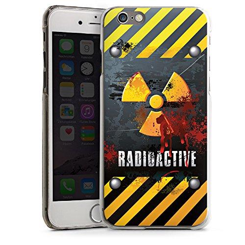 Apple iPhone 4 Housse Étui Silicone Coque Protection Radioactif Sang Atome CasDur transparent