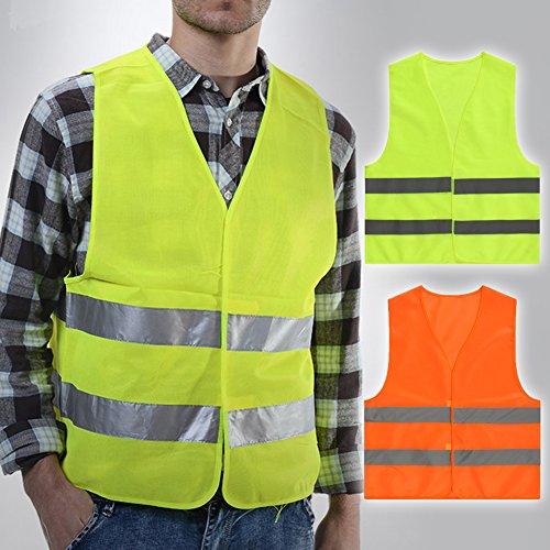 Reflektierende Weste für Radfahrer, Motorradkleidung, Sicherheitsweste für Herren, bequem, leicht, Reflektorstreifen, Warnjacke, Grau, für Sanitärbau, mit Laufstreifen -