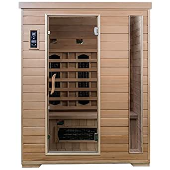 Saunamed 3 person classic hemlock far infrared sauna emr Classic home appliance films