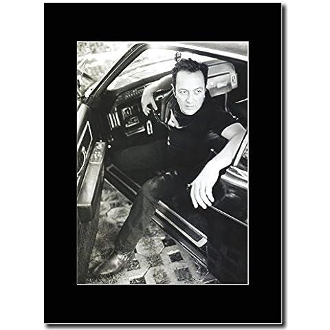 Joe Strummer The Clash-Auto Shot Magazine Promo su un supporto, colore: nero - Mount Auto Album