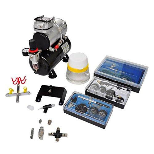 Kit Kompressor Airbrush Profi mit 3Pistolen und Leistung: 1/6HP