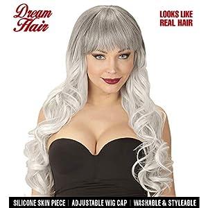 WIDMANN 06449peluca Melania Drea mhair, mujer, Negro de gris, One size
