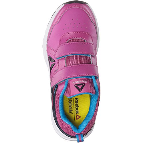 Reebok Almotio 3.0 2v, chaussures de course garçon Multicolore (Charged Pink/california Blue/black)