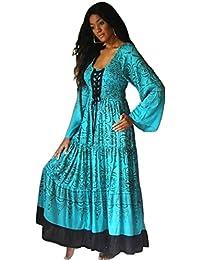 LOTUSTRADERS Damen Batik Kleid