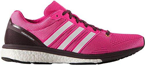 adidas Adizero Boston, Scarpe da Corsa Donna Mineral Red/Shock Pink/Onix Grey/Grey