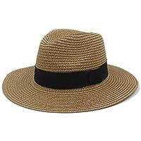 GHC gorras y sombreros Moda Verano Mujeres Hombres Toquilla Sombrero Paja  Sol Elegante Gran Ala Ancha eb93d610d89