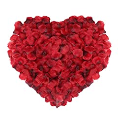 Idea Regalo - Naler 2000 Rossi Petali di Rosa di Seta Artificiali per la Festa della Mamma, Il Natale, Fiori di Matrimonio, CoriandolI