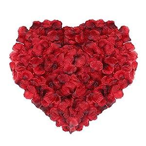 Naler 2000 Piezas de pétalos de Rosa de Seda Artificial Rojos para el día de San Valentín, proponer, Flores de Boda…