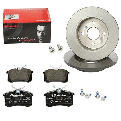 Preisvergleich Produktbild Brembo P-B-02-00218 Bremsen Set 2 Bremsscheiben Coated Disc Line Voll Ø 280 Mm + Bremsbeläge Vorne