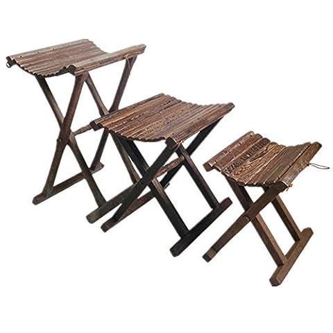 Extérieur en bois Portable pliant Tabouret Camping Set Chaise