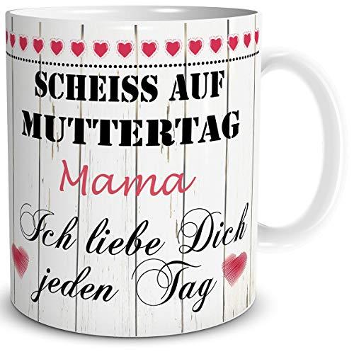 auf Muttertag mit Spruch Mama Ich Liebe Dich Geschenk für die liebste Mutter zum Geburtstag ()