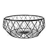Bloomma Obstkorb, kreative Eisen Geometrische Formen Obst Aufbewahrung Schüssel Display für Gemüse, Brot, Snacks, Dosen, Gewürzen