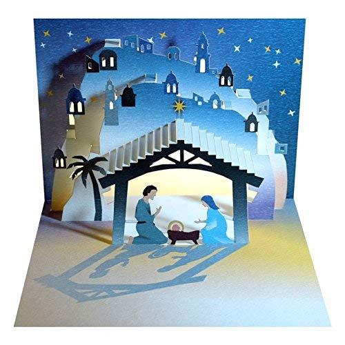 Krippe Krippe, Maria und Joseph mit Baby jesus- Amazing Popup Karte