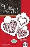 Vintage Hearts Cookie Schablone Set C1024von Designer Schablonen