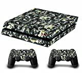 Tarnung Decal Skin Sticker Aufkleber for Playstation 4 PS4 Console Controllers (Graffiti Camouflage) Bild