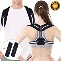 Posture Corrector, Acdyion Back Support Belt Adjustable Size Straight Strap for Women and Men Shoulder Back Strap to Fix Slouching and Hunching Back