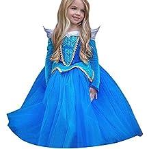 Vestito Abito per bambino ragazza bambina Principessa Natale Partito Compleanno bambini vestito carnevale bambina abiti PrincipessaFantasia Vestite HalloweenCostume Rawdah