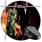 Allied Brad Pitt Marion Cotillard Tapis De Souris Ronde Round Mousepad PC
