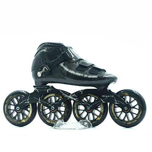 ZCRFY Pattinaggio di velocità Scarpe da Corsa per Adulti Ragazzi E Ragazze Professionale in Fibra di Carbonio Pattini A Rotelle Roller Skateroller Dritto 110m,B-40