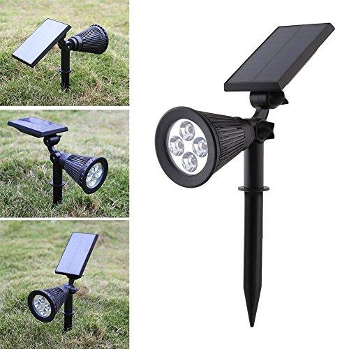 MVPower LED Solarleuchte Solarlampe kaltweiß Solarstrahler Solar Garten Außenlampe Wasserdicht IP44