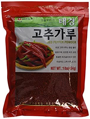 Korean Red Chili Pepper Flakes Powder Gochugaru (1 Lb) By Tae-kyung by Tae-kyung by Taekyung