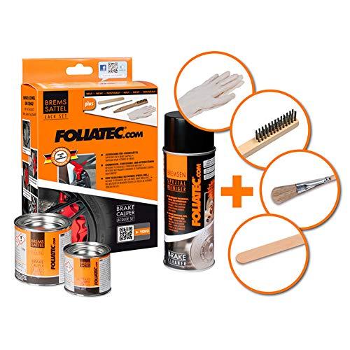 Foliatec 2184 kit verniciatura pinze, 3 componenti, giallo fluorescente