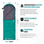 Endor Forest Sleeping Bag for Adults and Kids - Made With Ripstop Polyester, Single Envelope 3 Season Sleeping Bag for Camping - Lightweight, Compact and Water Resistant for a Comfortable Warm Sleep 11