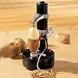 LDJC Électrique Peeler de Pommes de Terre et Apple, électrique Peeler Légumes Automatique Peeler Fruits Peeler éplucheuse de Pommes de Terre,A