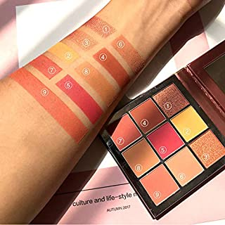 TAOtTAO 9 Color Waterproof Brush Eye Shadow Plate Powder Matt Eyeshadow Cosmetic Makeup (A 9 Color)