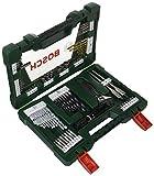 Bosch V-Line Titanio - Maletín de 83 unidades para taladrar y