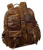 Rucksack in natürlichem Lederlook und Laptopfach LandLeder - 4040