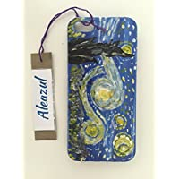"""Funda Iphone 5, 5S, 6, 6S, 6+, 7, 7S,7+ """"La noche Estrellada"""" Rebajas! Vincent Van Gogh Starry Night (Pintada a mano!!) Apple."""