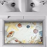 Bomeautify Wandtattoos Wandbilder Moderne im minimalistischen Stil 3D entfernbare Bodenaufkleber Badezimmer Badezimmeraufkleber wasserdichtes rutschfestes selbstklebendes Papier 58 * 90CM